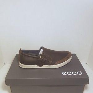 NIB- ECCO Collin 2.0 Coffee Slip on Leather Loafer
